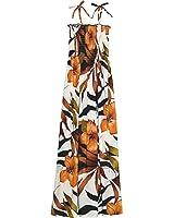 RJC Womens Delightful Hibiscus Elastic Tube Top Long Sundress