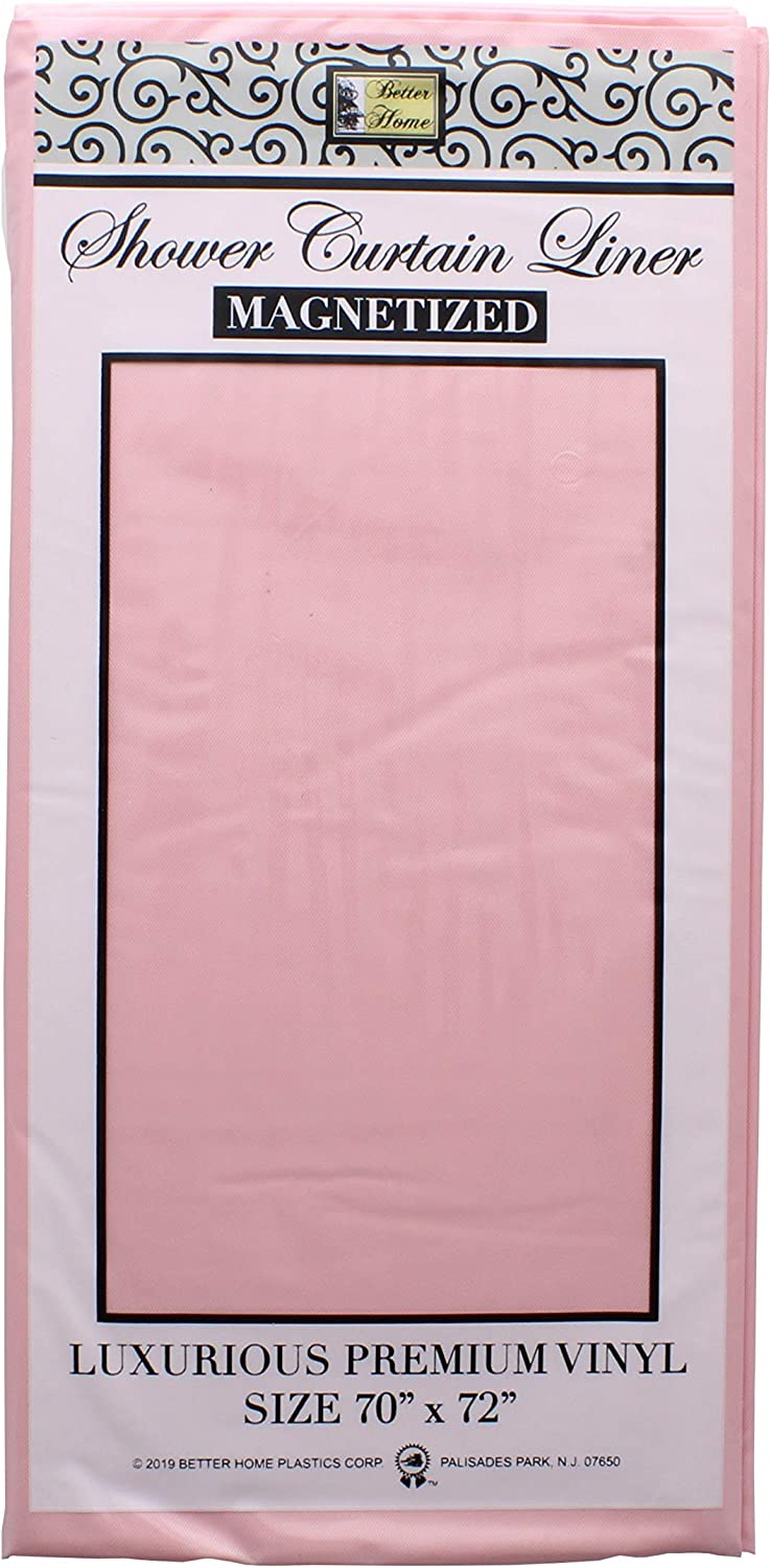 Better Homes Plastic Corp Rose Shower Curtain Liner Magnetized 70 inches x 72 inches