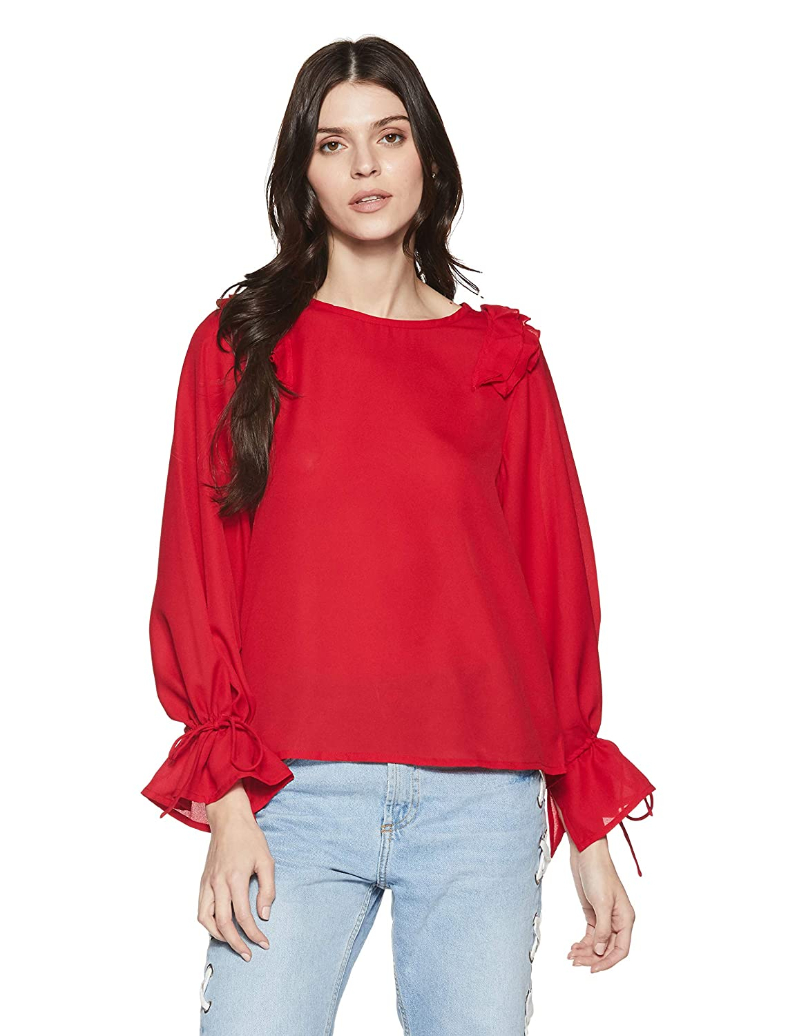 Get 40% Off on Stalk Buy Love Women's Georgette Cassie Knotted Top