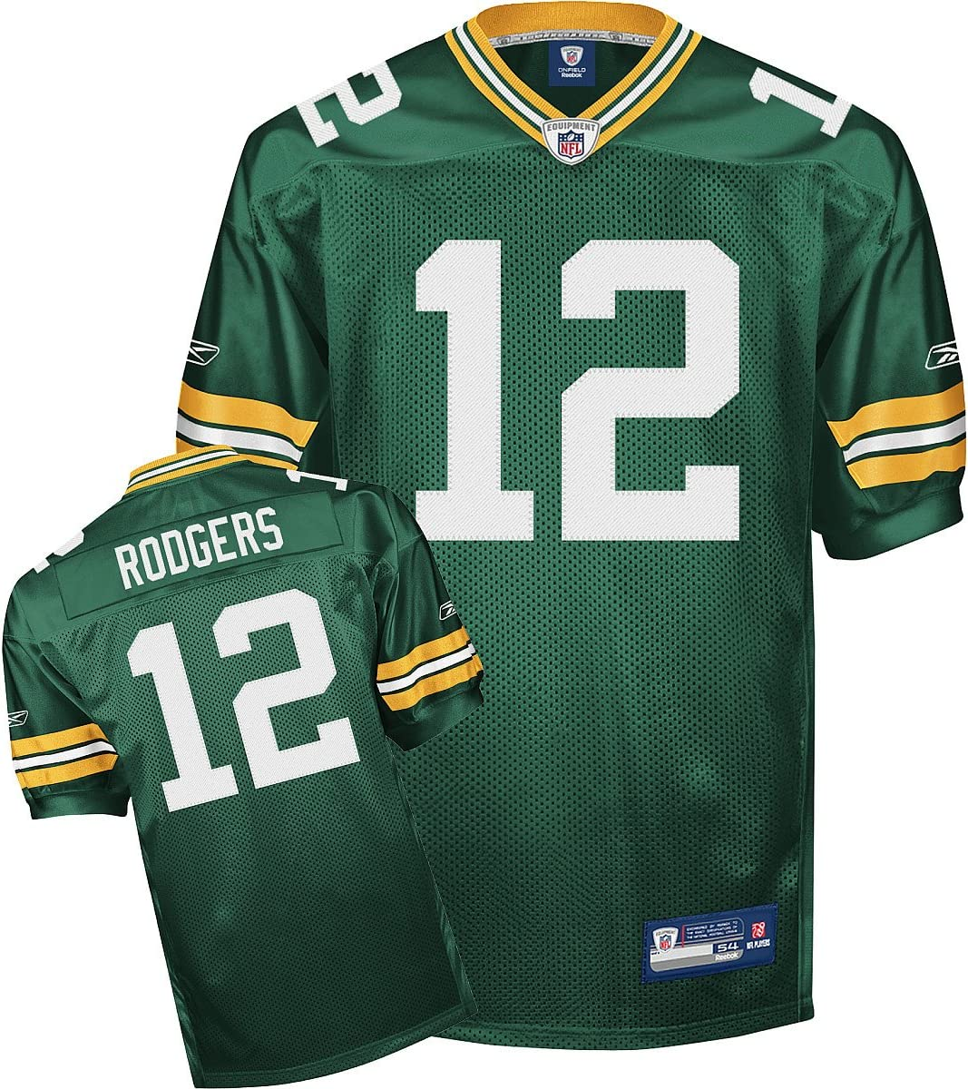 Amazon.com : Reebok Green Bay Packers Aaron Rodgers Authentic ...