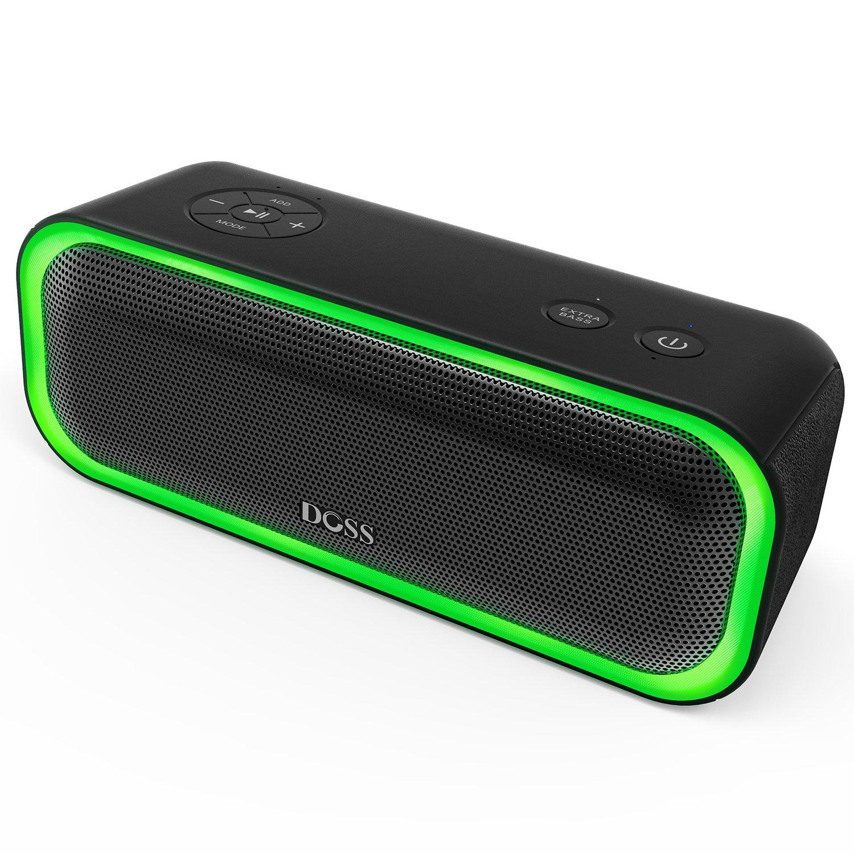 DOSS SoundBox Pro Wireless Bluetooth Speaker, 20W Speaker with Stereo Sound, Enhanced Bass, Stereo Pairing, Multiple LED Light, Long-Lasting Battery Life for iPhone, Samsung, iPad, Echo dot, Good Gift