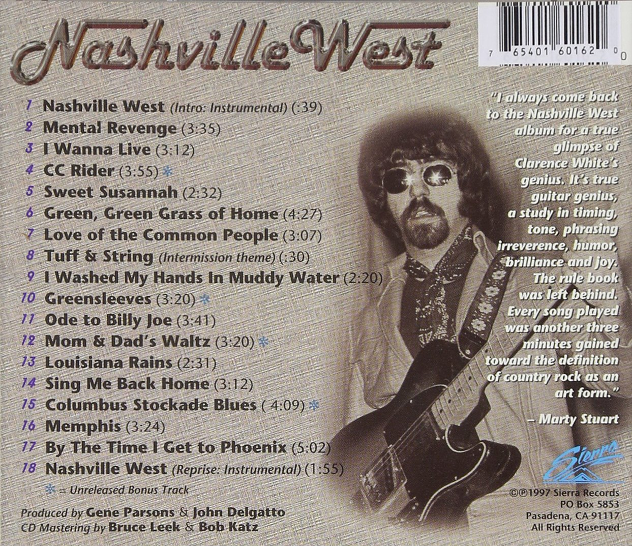 Nashville West featuring Clarence White by Sierra