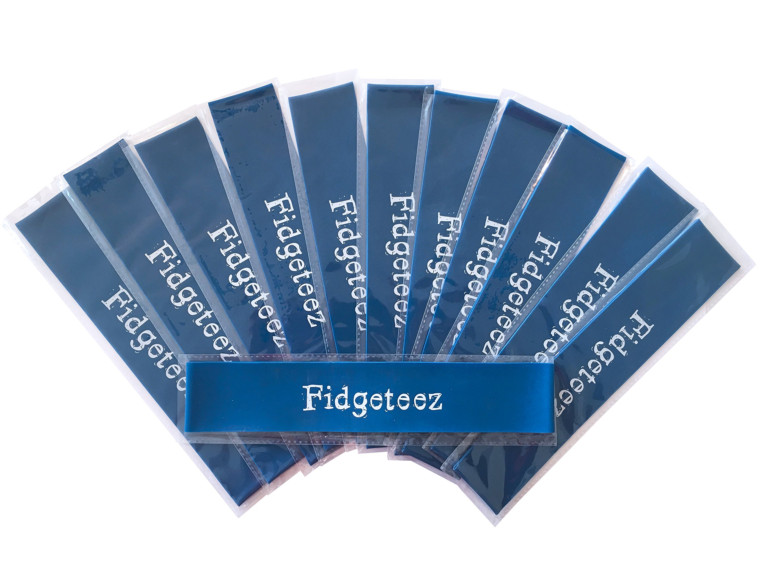 Fidgeteez Set of 12 Chair Bands. Helps Improve Focus in the Classroom. Bounce or Stretch the Bands. Works for ADD, ADHD, Autism, and Sensory Needs. Silent and Non-Disruptive.