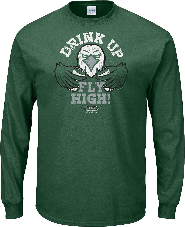 Drink Up Fly High Heather Green T-Shirt Smack Apparel Philadelphia Football Fans Sm-5x