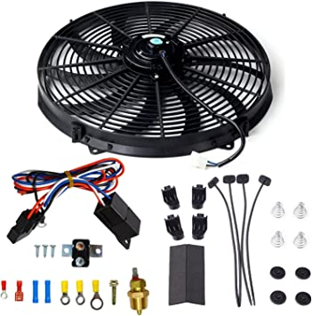 """Thermostat Relay Mount Kit 16/"""" Electric Curved Heavy Duty Cooling Radiator Fan"""