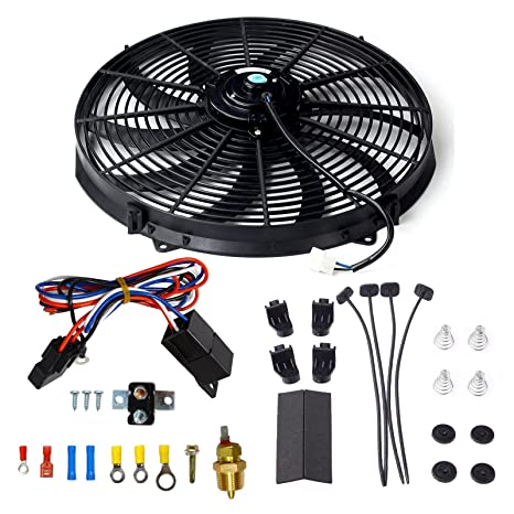 yjracing 16 Inch Electric Radiator Cooling Fan Mounting Kit & 175-185 on