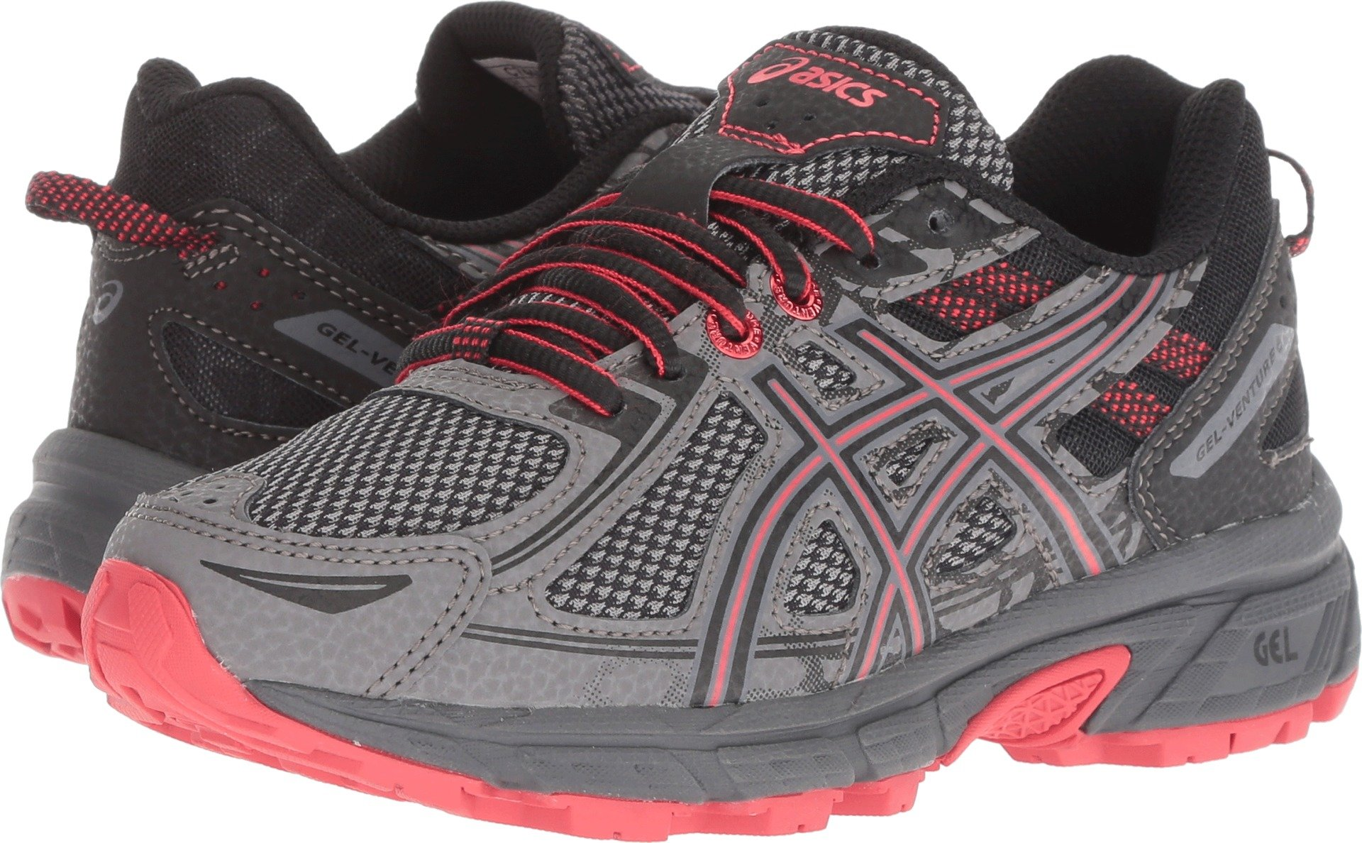ASICS Kids Gel-Venture 6, Carbon/Cayenne, 5.5 M US Big Kid