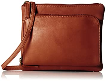 fc88bfd45139 Visconti Visconti Sling Bag Handbag, Leather Messenger Bag for Ladies,  Brown, One Size