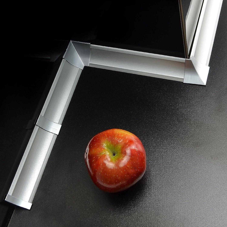 4 x innenecke 2 x Endst/ück 4 x Verbinder 2x3m 6m - 4 x Aussenecke 6,0m WINKELLEISTEN 23mm Aluminium SET Abschlussleiste mit Gummilippen oder Zubeh/ör