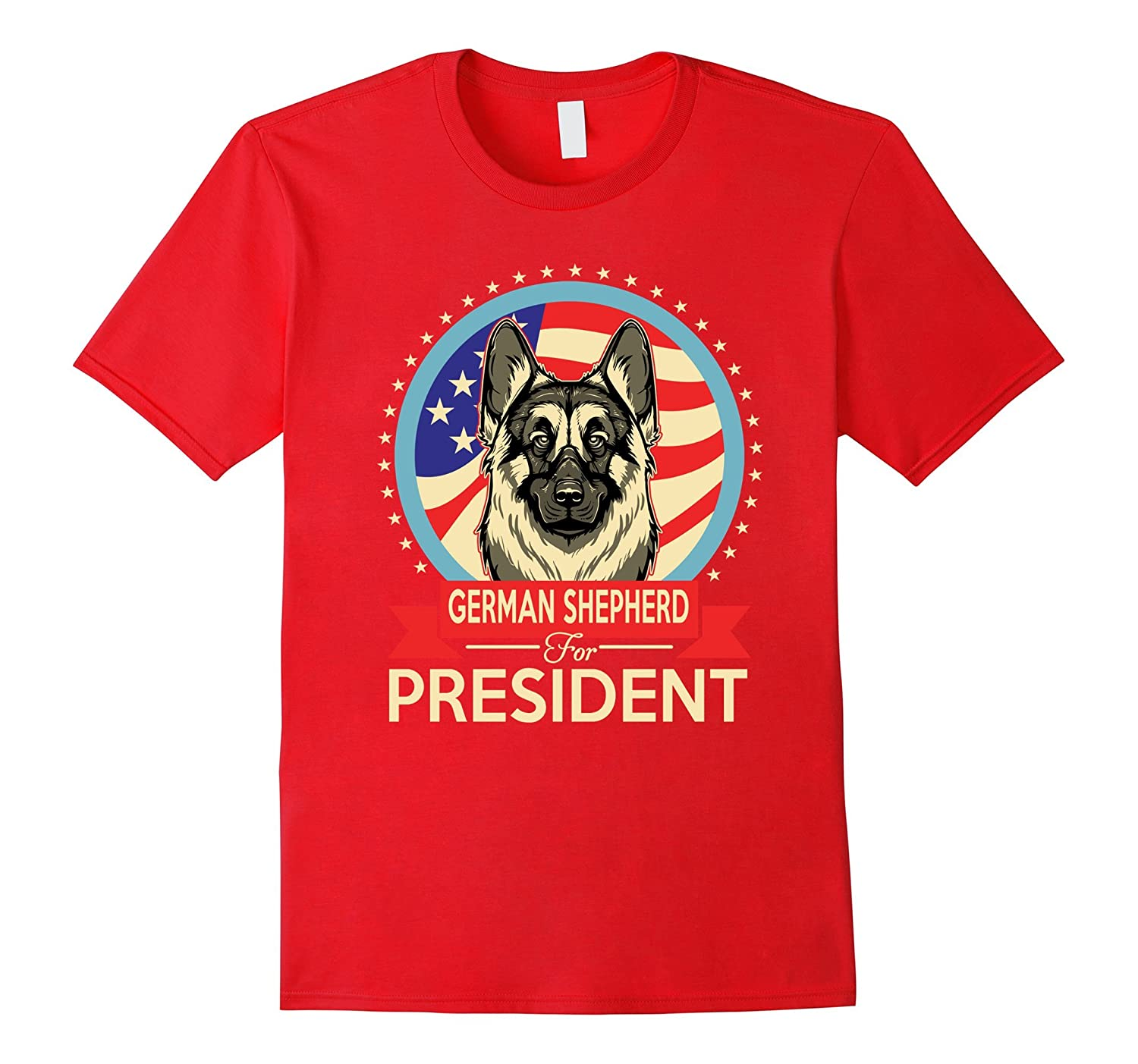 German Shepherd for President 2016 Tshirt puppies Gifts-Art