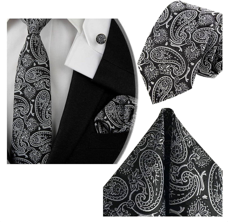 23 Disegni GASSANI Set Cravatta 3 Pezzi 7cm Motivi Paisley