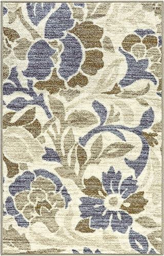 SUPERIOR Berrigan Floral Non-Slip Indoor Area Rug