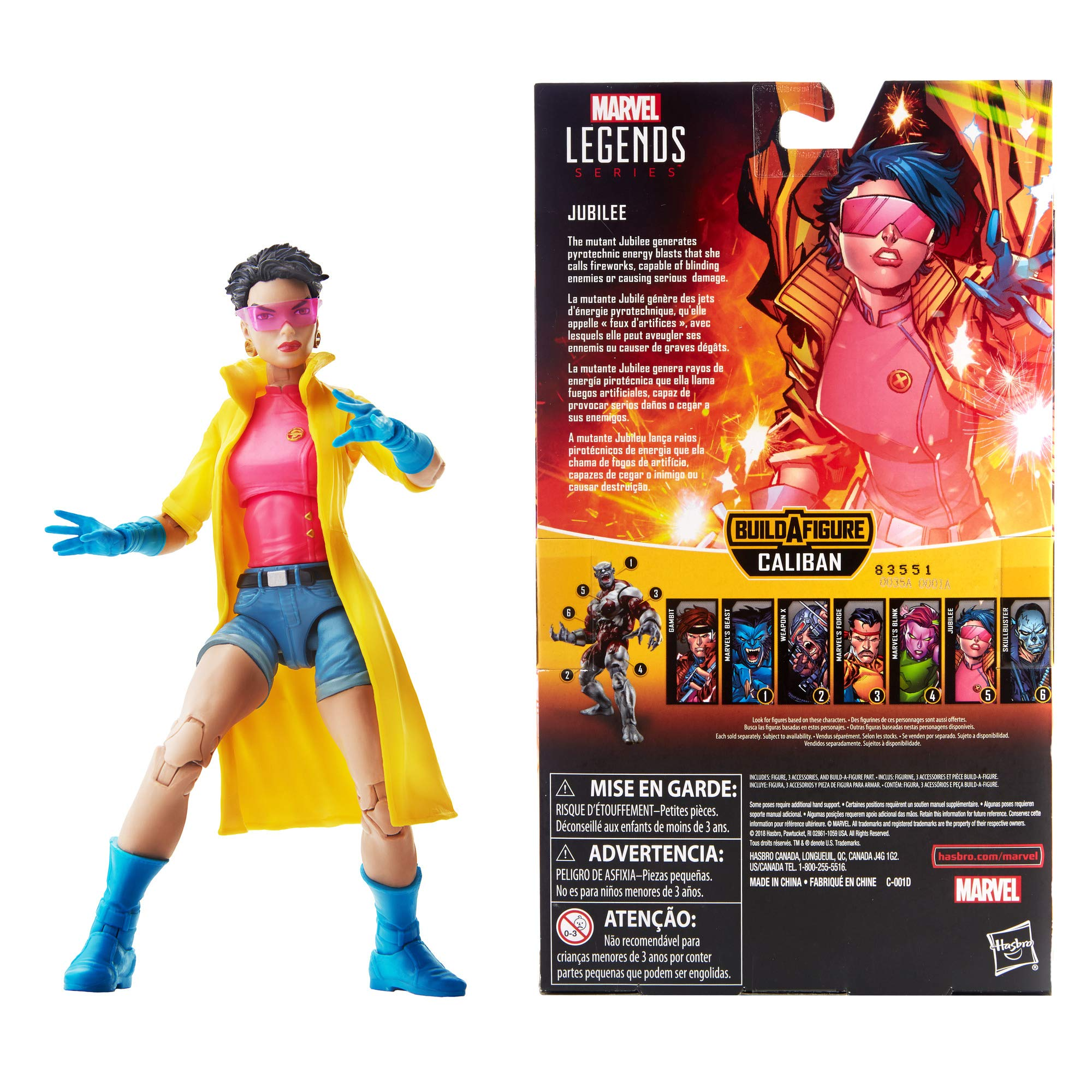 Marvel Hasbro Legends Series 6-inch Collectible Action Figure Jubilee Toy (X-Men Collection) Caliban Build-a-Figure Part by Marvel (Image #3)