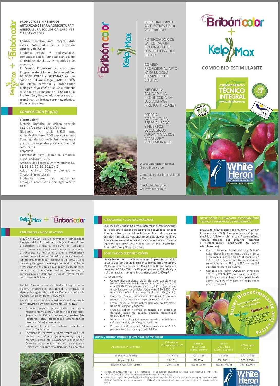 Kelpmax® + Bribon®; (1.800 m2); Multinutrientes/Vitaminas/Algas nano concentrado -Pack Fertilizante especial. Bioestimulante.