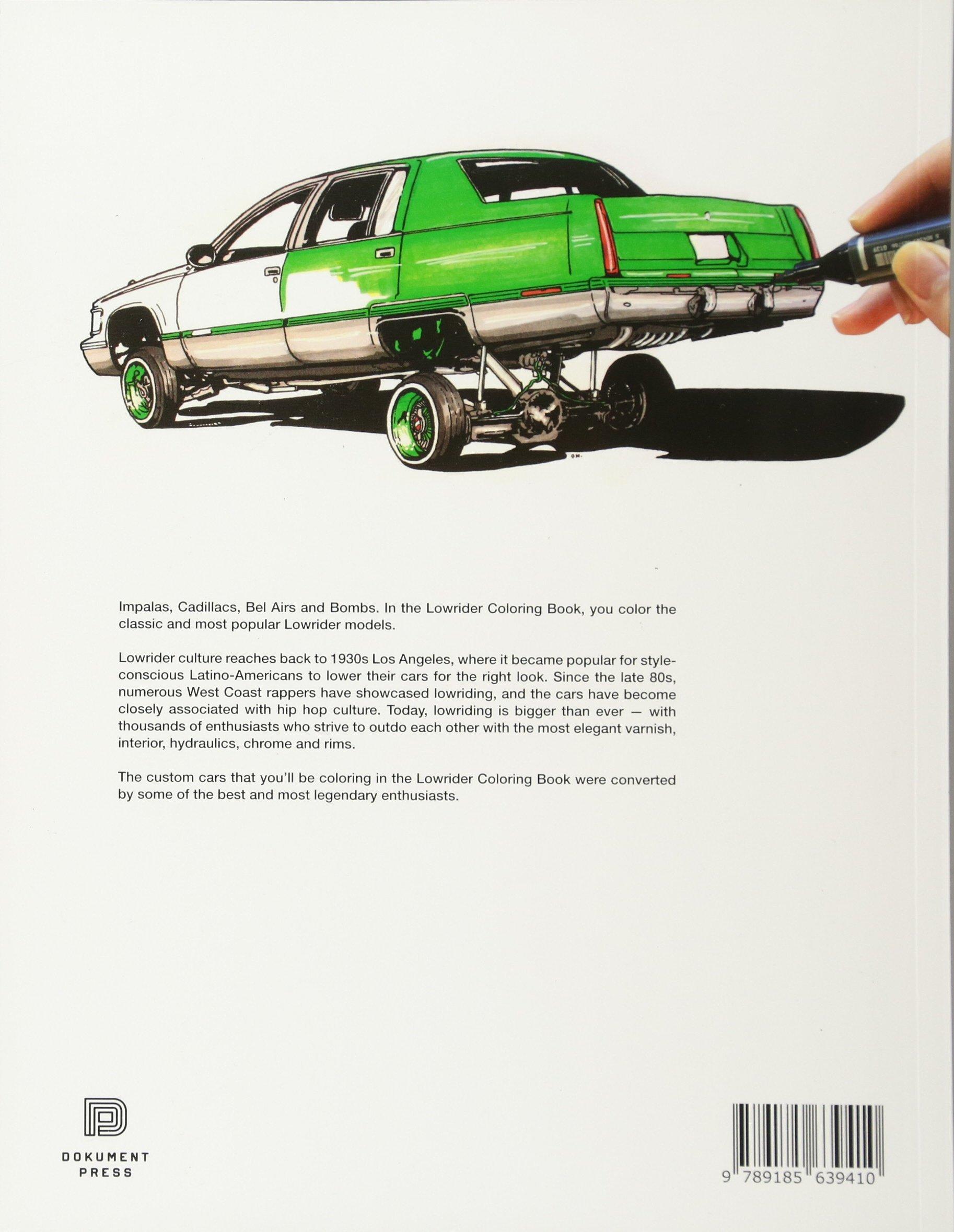 Lowrider Coloring Book Oscar Nilsson 9789185639410 Amazoncom