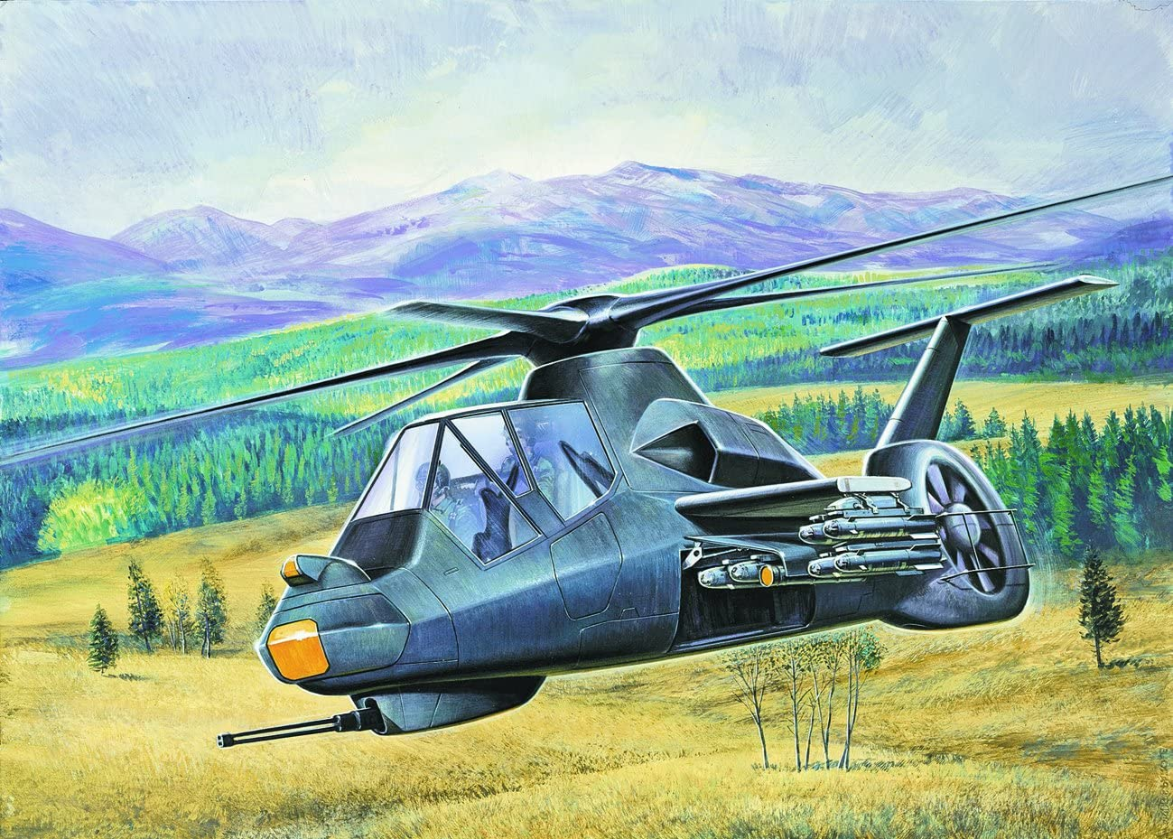 B00061HKWO Italeri 058 RAH-66 Commanche 1/72 Scale Helicopter Model Kit 81ZA4xA11sL