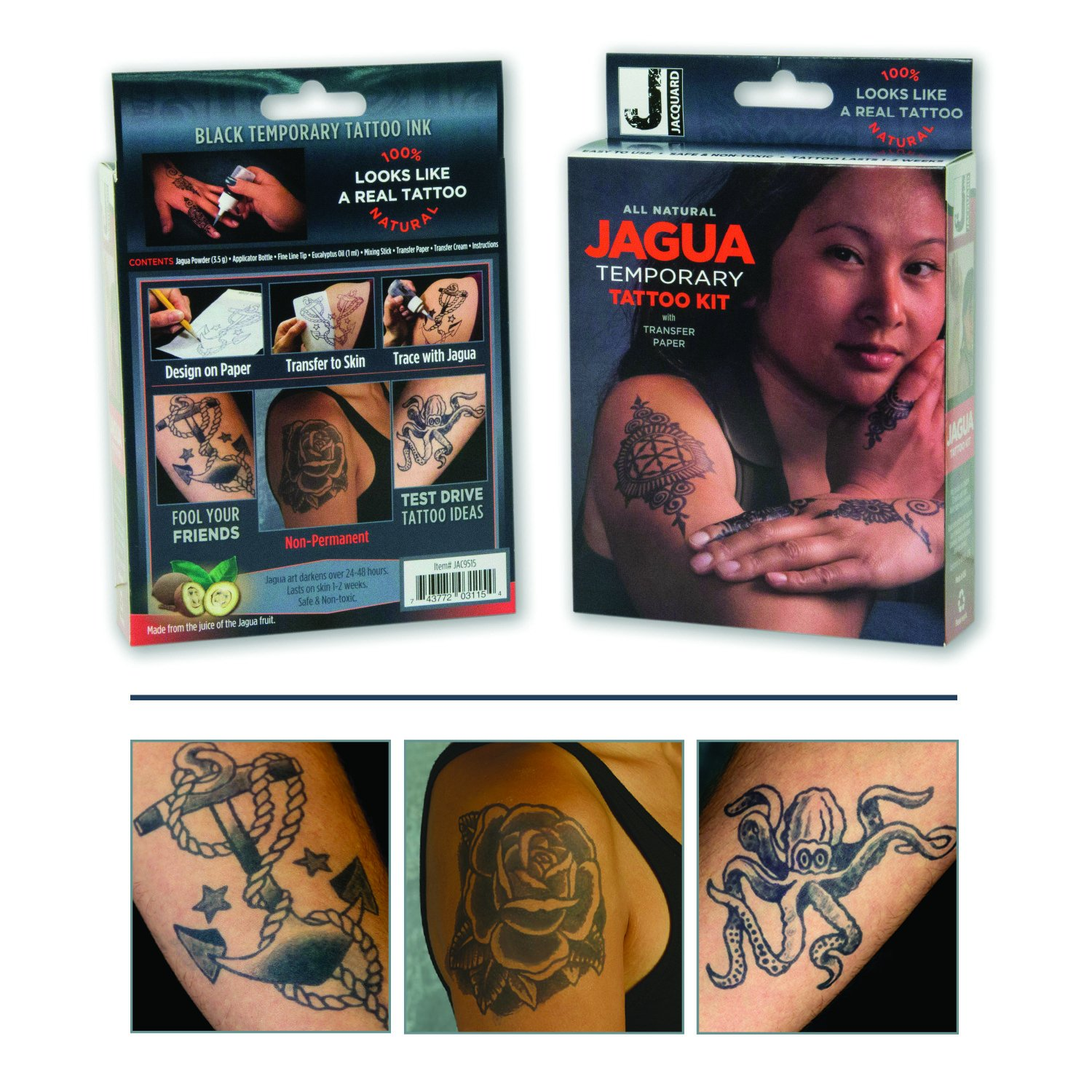Jacquard Jagua Temporary with Transfer Paper Tattoo Kit (8 Piece) by Jacquard (Image #6)