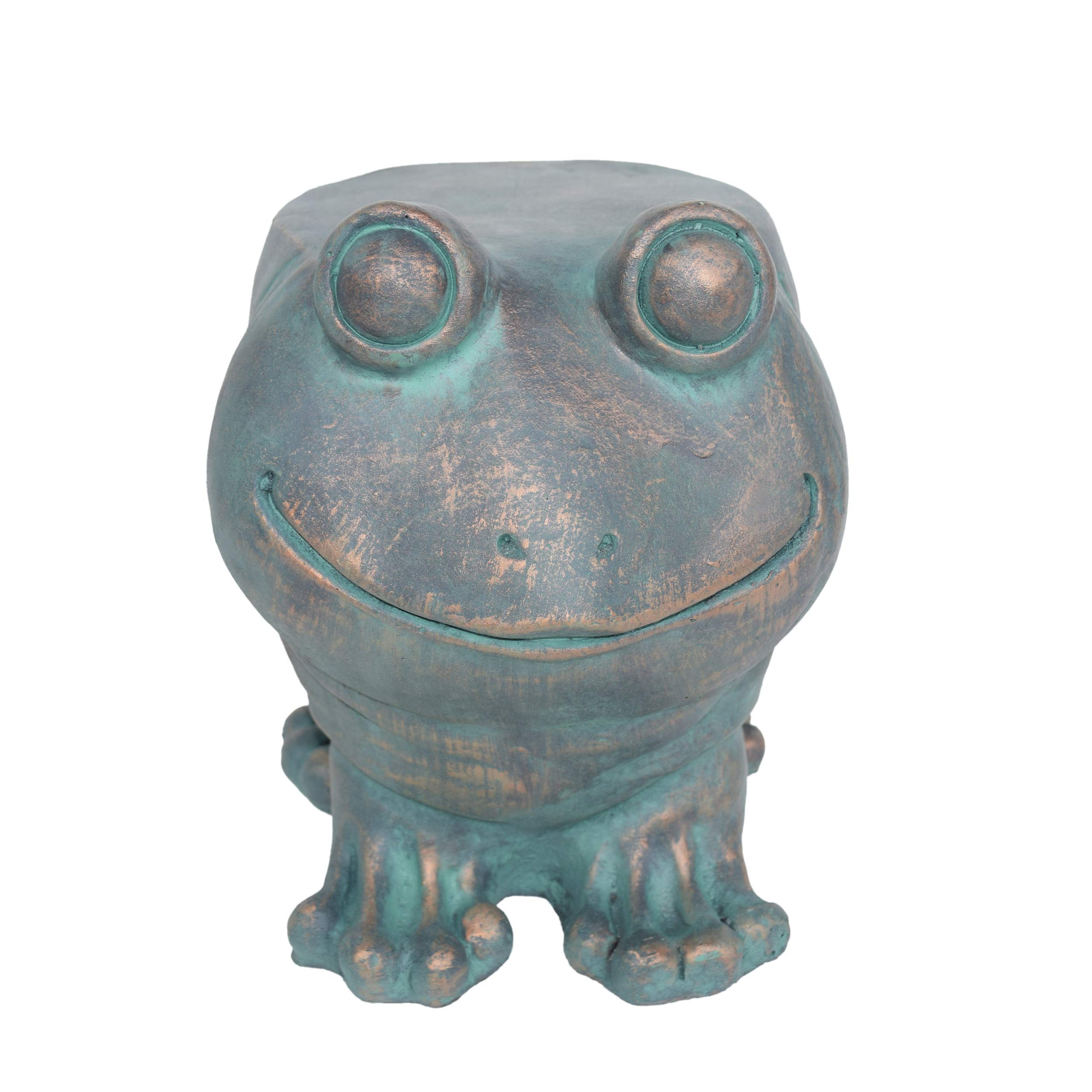 Christopher Knight Home Dawn Frog Garden Stool, Lightweight Concrete, Copper Patina Finish