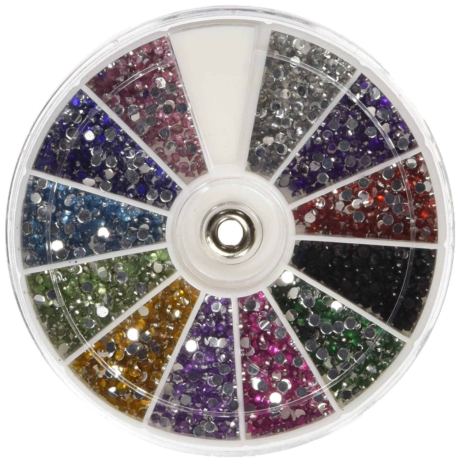 Amazon.com: CJESLNA Rhinestones 2400 Piece 12 Color Nail Art Nailart ...
