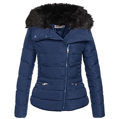 AZ Fashion Damen Winterjacke Parka Steppjacke Jacke S XL