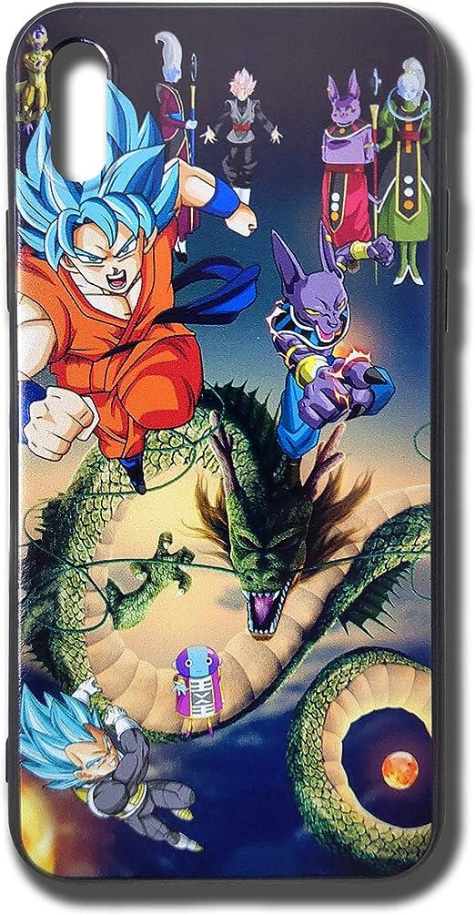 Dragon Ball Super Blue Vegito Beerus Phone Case for iPhone X