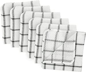 DII Scrubber Collection Dishcloth Set, 12x12, Gray 6 Piece
