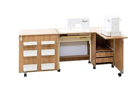 Comfort 5+ | Mueble para máquina de coser | (Oak Sorano Natural ...