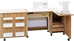 Comfort 5+ | Mueble para máquina de coser | (Oak Kendal Cognac, M ...