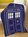 Doctor Who Tardis Fleece Blanket Bed Throw