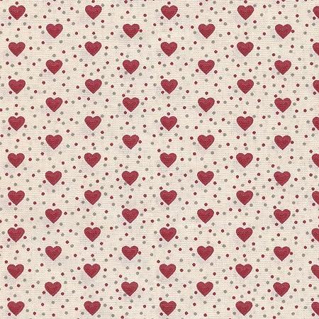 Tela de algodón estampada Corazones de amor - rojo y gris medio ...
