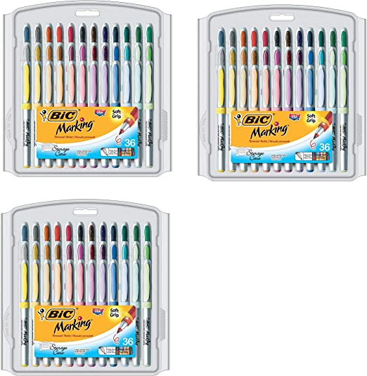 BIC Marking Permanent Marker Fashion Colors Ultra Fine Point Assorted Colors,