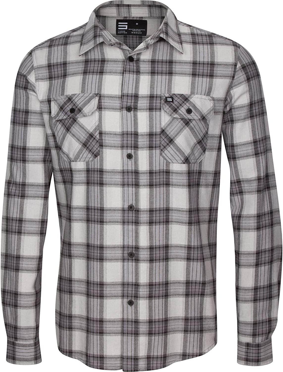 Three Sixty Six Flannel Shirt for Men - Mens Dry Fit Lightweight Fitted Flannels
