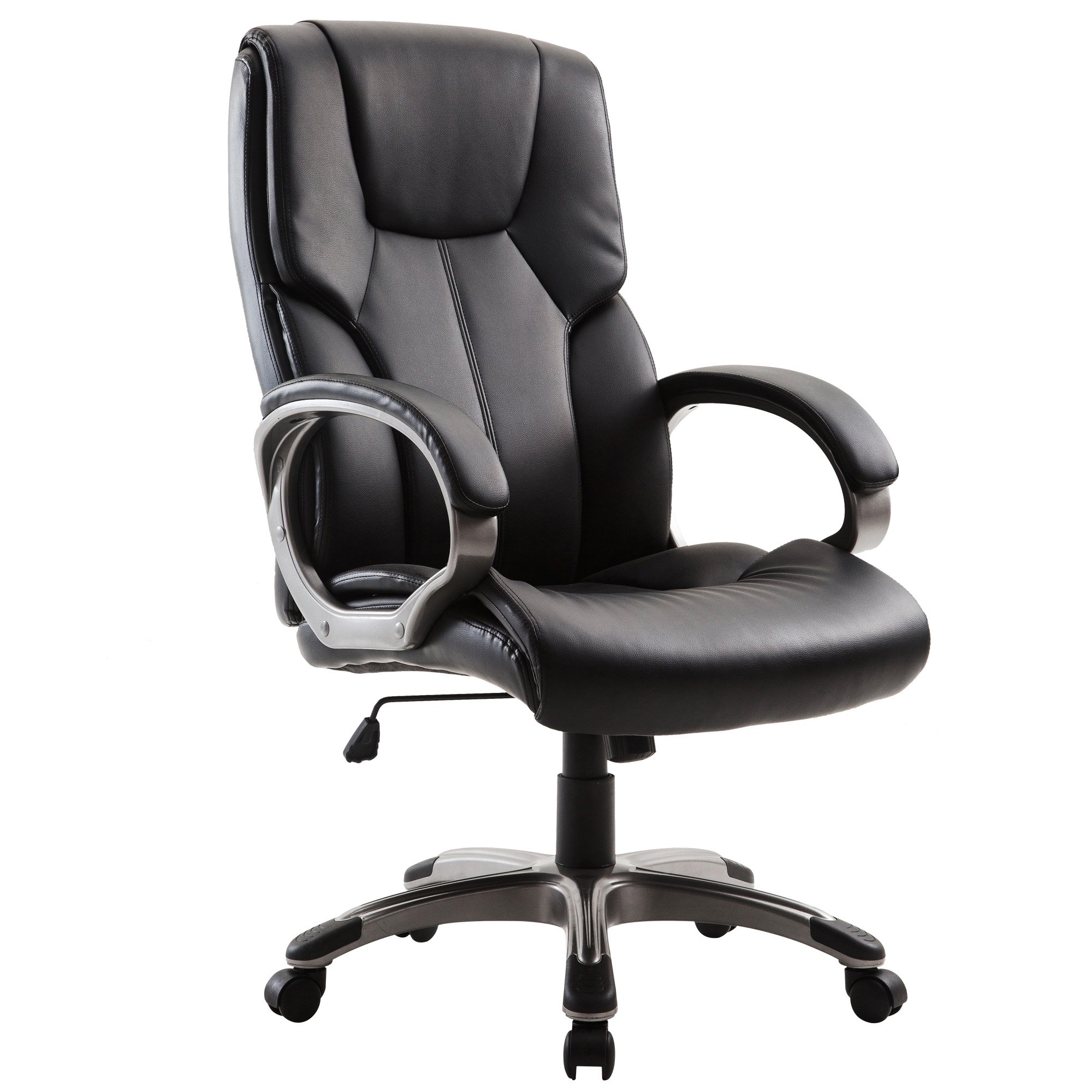 Acepro Office Chair Desk Chair Computer Gaming Chair High Back Leather Office Desk Chairs Adjustable Executive Chair PU Leather, Black