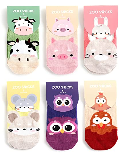 12 PAIRS OF GIRLS GOING TO THE ZOO SOCKS VARIOUS SIZES 3-5 6-8 NEW CHILDREN