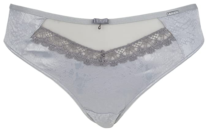 Ex Store Luxury Lace Brazilian Knickers Pale Pink Size 12