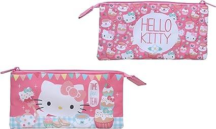 Trendhaus - Estuche escolar Hello Kitty (HKTP8548): Amazon.es: Oficina y papelería