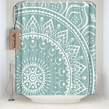 Mandala Fabric Shower Curtain Stall Extra Long Size 54quotx78quot Indian Art Designs