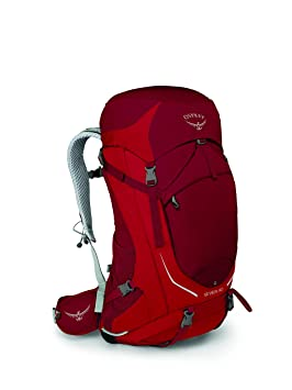 Osprey Paquetes Stratos 50 Mochila, Hombre, Beet Red, S-M