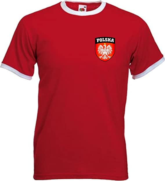 Polen EM 2020 Fanartikel Fanshirt Fußball Fan Kinder Jungen T-Shirt Trikot