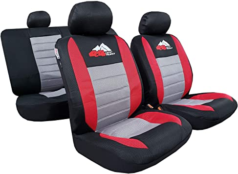 Black Red Leather Car Seat Covers For Vauxhall Corsa 5DR 1993-2000