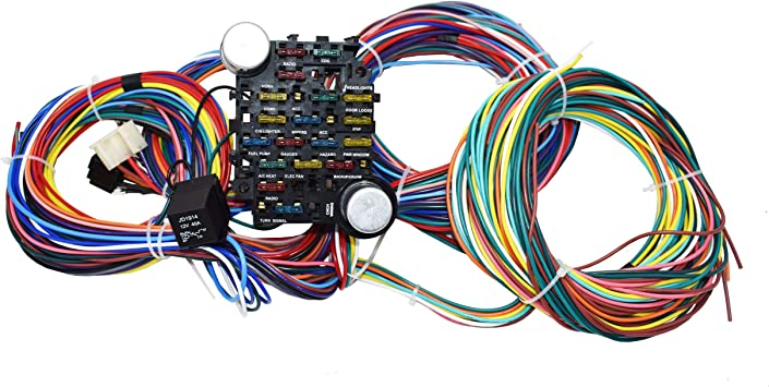 [DIAGRAM_38IU]  Amazon.com: A-Team Performance 21 Standard Circuit Universal Wiring Harness  Kit Muscle Car Hot Rod XL Wire: Automotive | Hot Rod Wiring Harness |  | Amazon.com