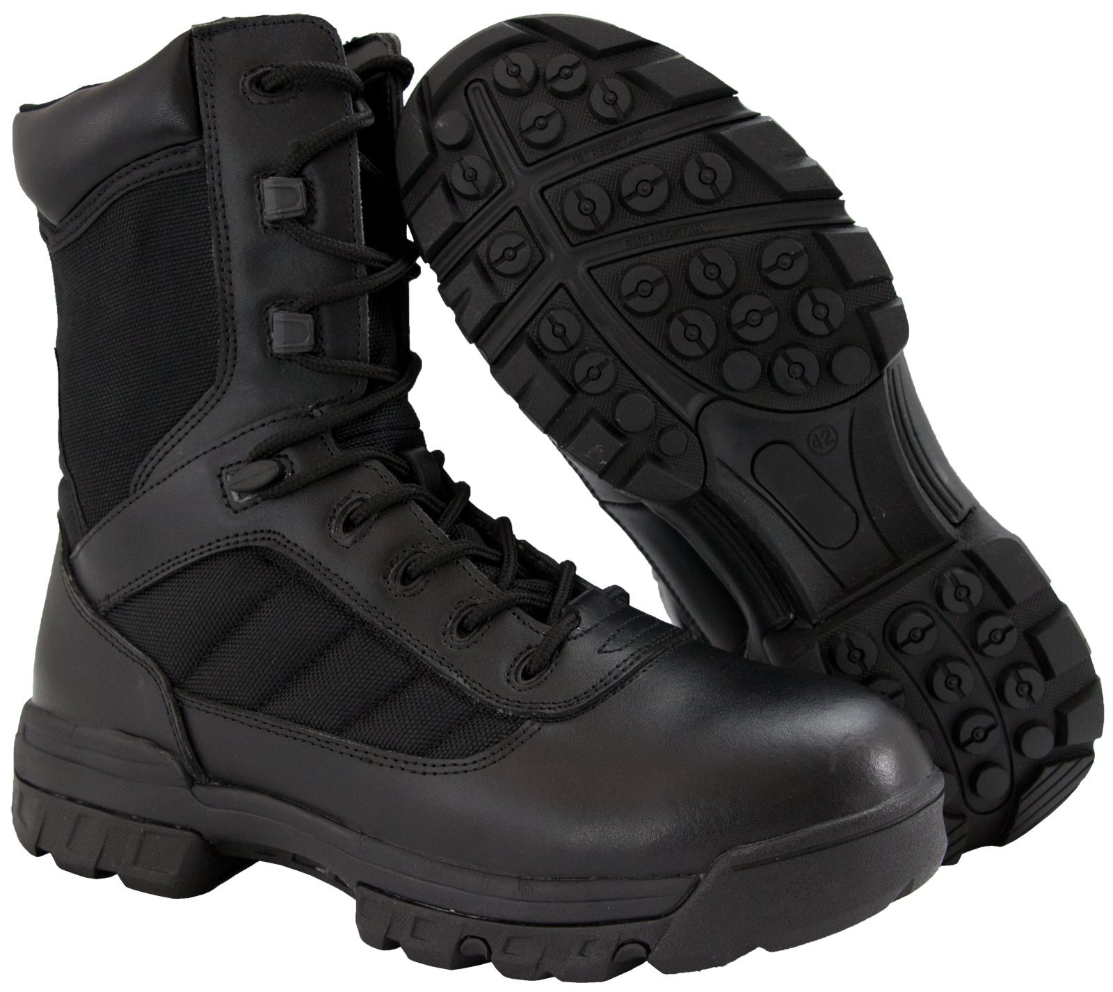 8'' Ryno Gear Tactical Combat Boots with CoolMax Lining (Black) (12) by Ryno Gear