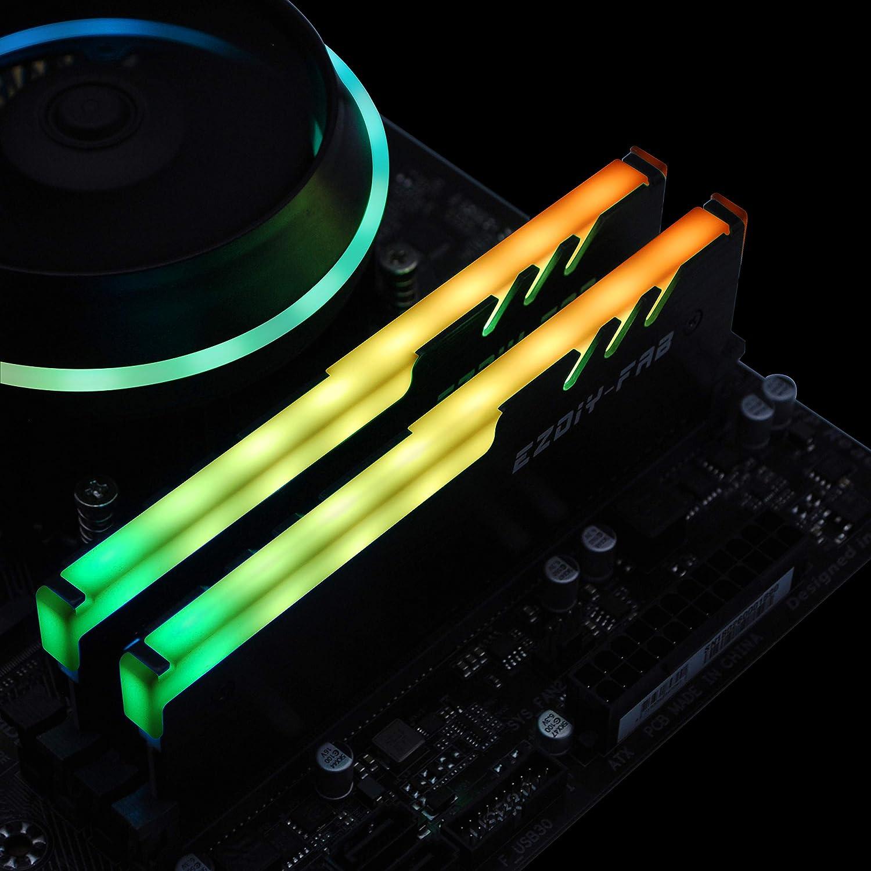 EZDIY-FAB RGB Memoria Direccionable RAM Refrigerador DDR Disipador ...