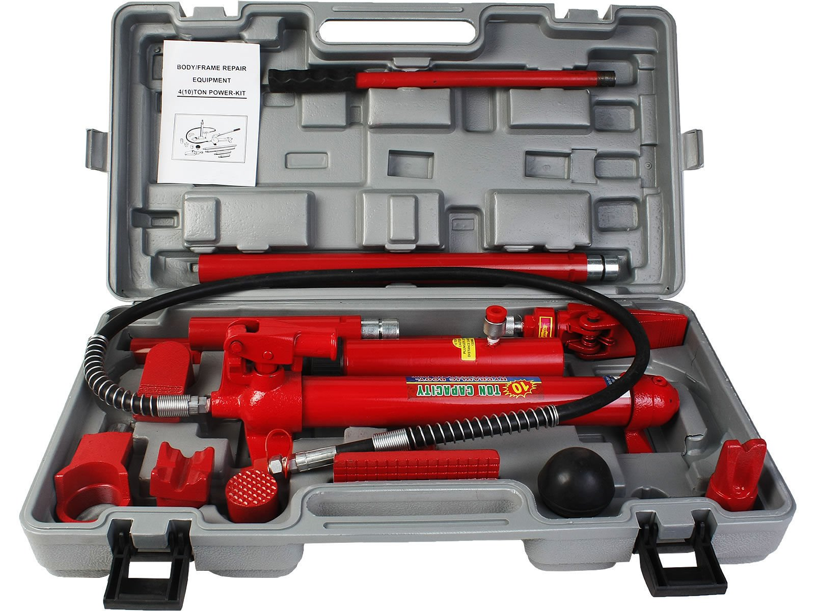 Hydraulic Body Frame Repair Kit Jack Auto Shop Tool Heavy Duty Set Complete - House Deals