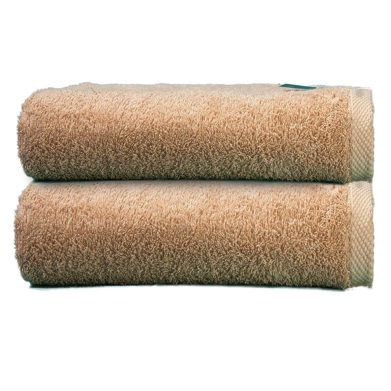 ADP Home - Toallas De Sábana/Baño Calidad De 100% Algodón Peinado 550Grms Pack De 2 Unidades - Color - Beige - Talla - 100 x 150 cm: Amazon.es: Hogar