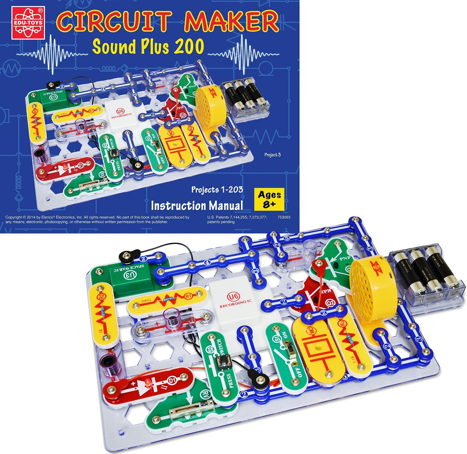 Elenco Circuit Maker 200 Sound Plus Electronics Discovery Kit Kitchen Home