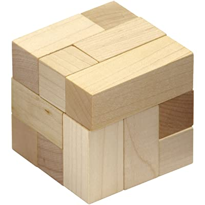 Natural Soma Cube - Made in USA: Toys & Games