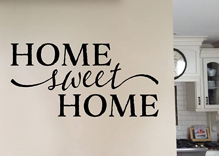 Home Sweet Home Vinyl Wall Decal By Wild Eyes Signs, Wall Art, Hallway,