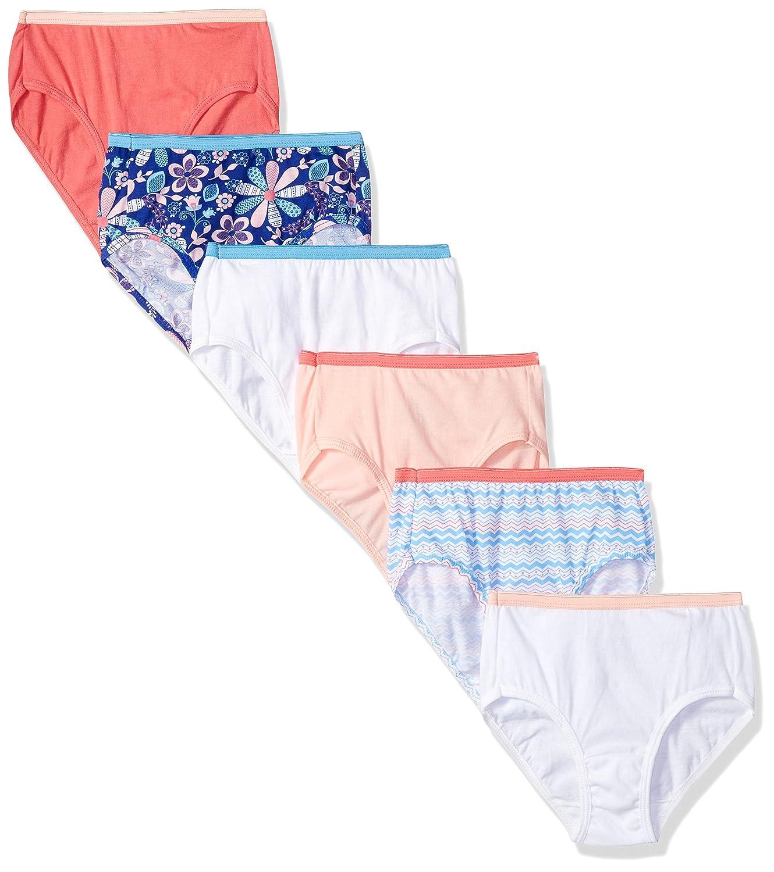 Hanes Girls' Big Cotton Brief 6-Pack D30LAS