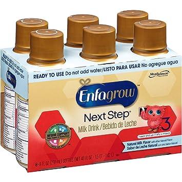 Enfagrow Premium Toddler Next Step Natural Milk Ready to Use Powder, 6 Count